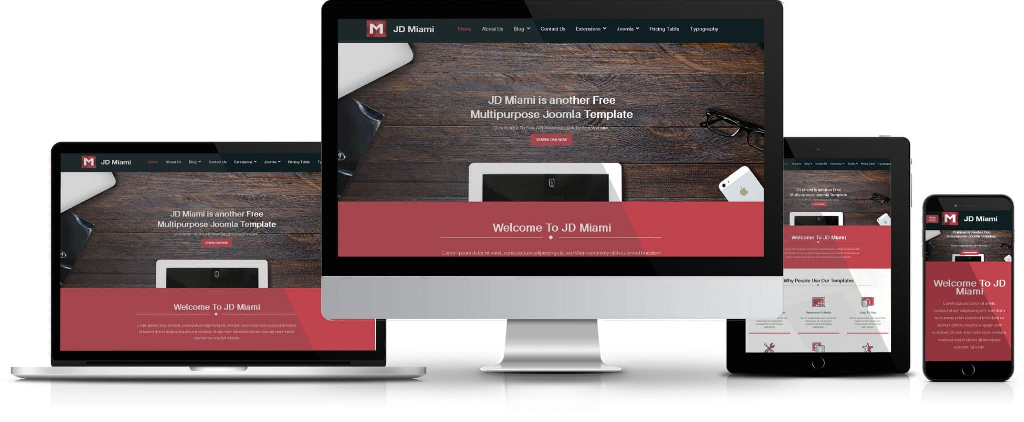 JD Miami - Joomla 3.6.4 Template