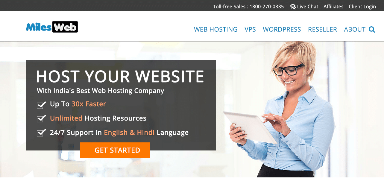 Milesweb hosting review, Milesweb hosting