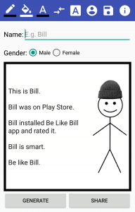 Be Like Bill meme generator app