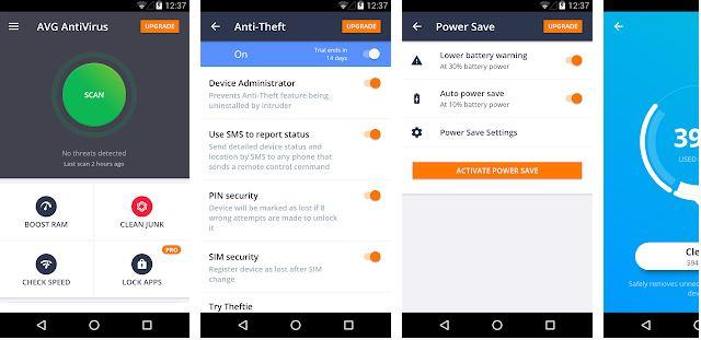 AVG AntiVirus Free – Android Virus Cleaner