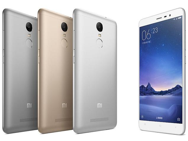16 MP camera mobile Phones Redmi Note 3