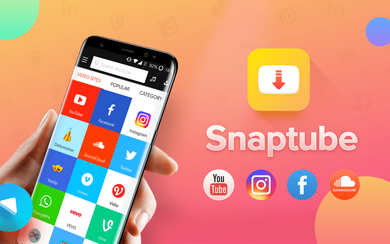 Snaptube, music and Video downloader, Snaptube app