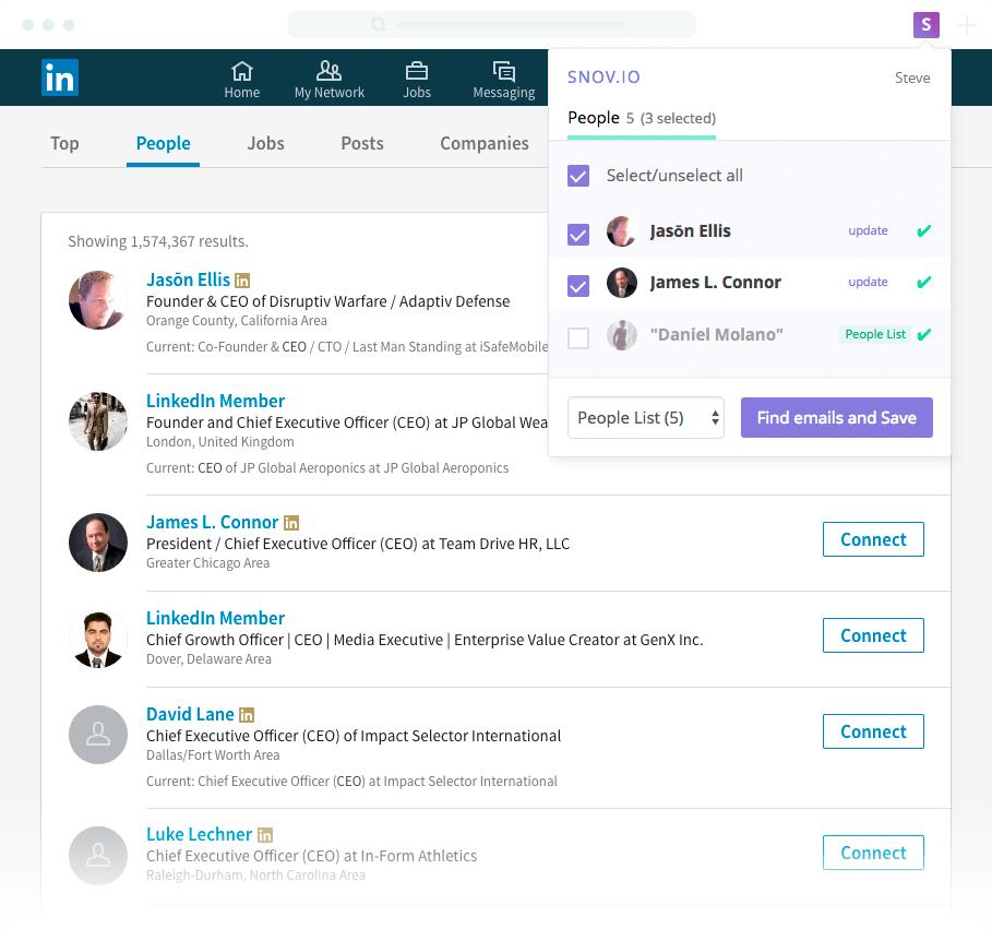 Snov.io features