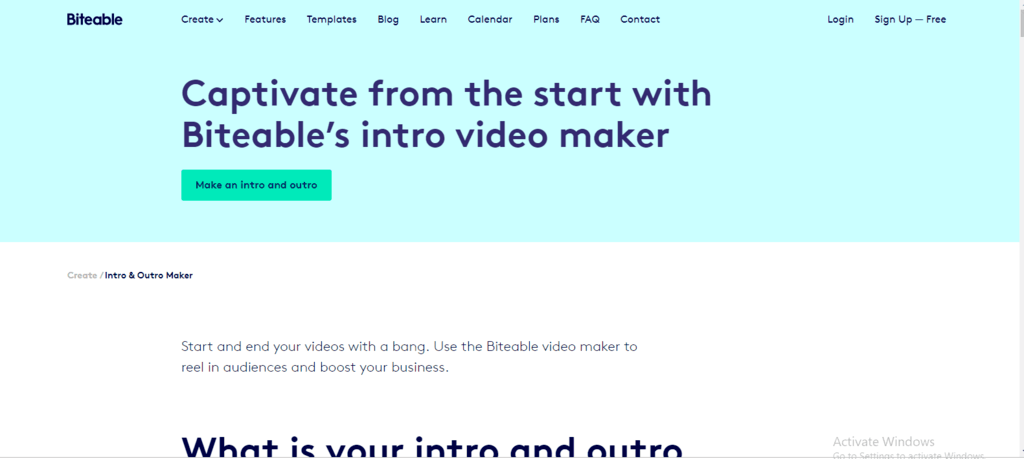 biteable intro maker