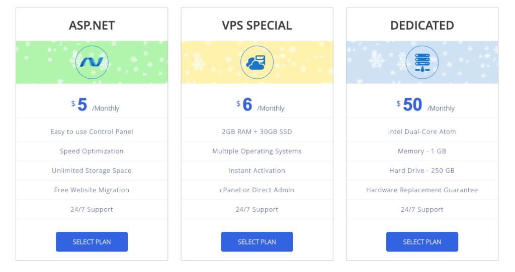 Interserver hosting Pricing Plans